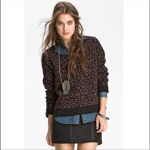 Free people cheetah print sweater